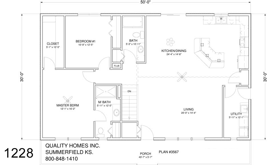 30x50 metal house plans quotes